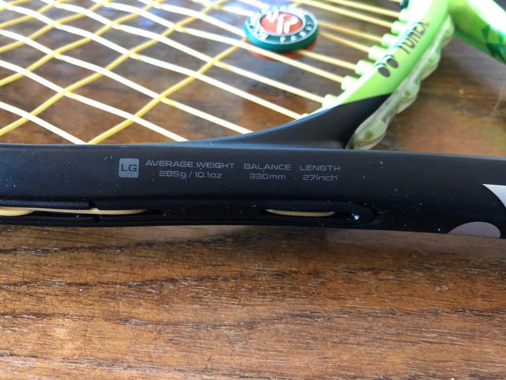 raquette EZONE YONEX 285g manche 2