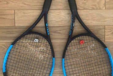 2 Raquettes de tennis Wilson ULTRA 105 S COUNTERVAIL + sac