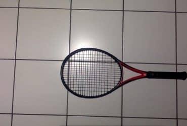 Raquette de tenis adulte tr900 noir rouge